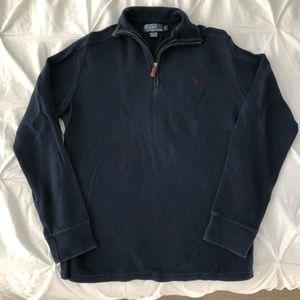 Polo Ralph Lauren Navy Half Zip Pullover Sweater